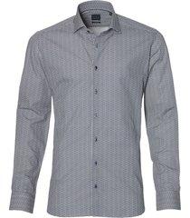 nils overhemd - body fit - donkerblauw