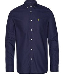 oxford shirt overhemd business blauw lyle & scott