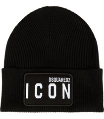 icon logo patched beanie dsquared2