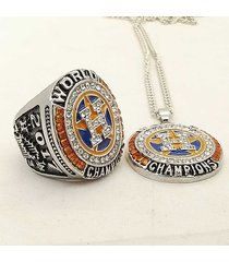 2017 houston astros world series baseball championship ring necklace set gift