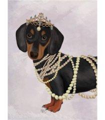 "fab funky dachshund and tiara canvas art - 27"" x 33.5"""