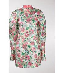 rotate rose jacquard mini dress
