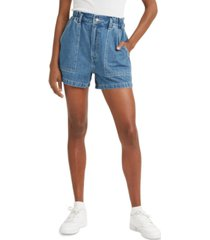 levi's high-waist a-line denim shorts