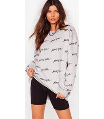 womens nothing but a relaxed sweatshirt - grey