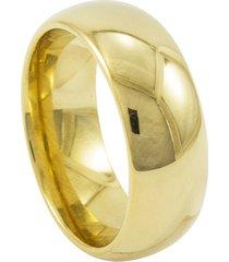 aliança de aço-titânio tudo jóias 8mm dourada