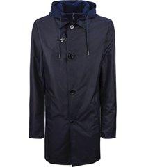 fay blue high tech trench coat
