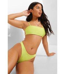 tropicana strapless bikini top met bandjes, lime