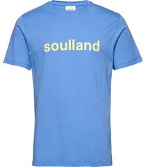 logic chuck t-shirt w.print t-shirts short-sleeved blå soulland