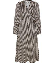 ed ls wrap dress dresses wrap dresses svart second female