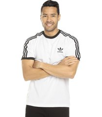 camiseta blanca-negra adidas originals 3 - stripes tee