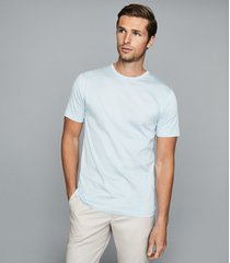 reiss balham - mercerised crew neck t-shirt in soft blue, mens, size xxl
