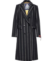 long double breasted tailored wool coat wollen jas lange jas blauw scotch & soda