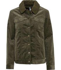 giacca con pellicciotto sintetico (verde) - rainbow