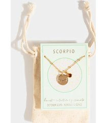 scorpio constellation necklace pouch - gold