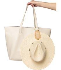 lindsay albanese toptote raffia hat holder in brown at nordstrom