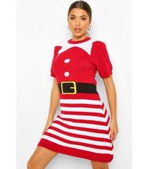 mrs elf kersttrui jurk, red