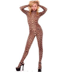 leopard lycra spandex suit halloween animal bodysuit costume cosplay