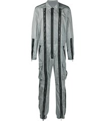 dsquared2 multi-zip straight-leg jumpsuit - grey