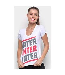 camiseta internacional listras retrô mania feminina