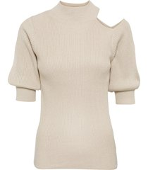 maglione a coste con cut-out (beige) - bodyflirt