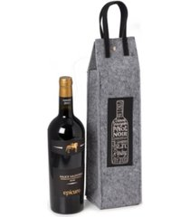 bey-berk wines of the world felt wine tote with accents