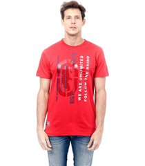 camiseta ecko estampada vermelha