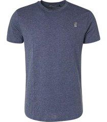 no excess t-shirt crewneck 2 coloured melange indigo blue