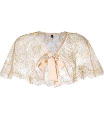 gilda & pearl 'audrey' lace cape - yellow