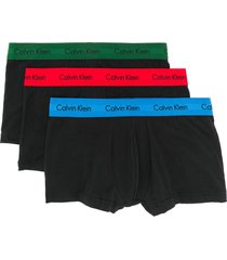 calvin klein underwear pack of three boxer briefs - black