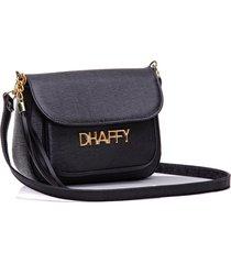 bolsa dhaffy bolsas com bolso na frente preto