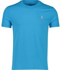 blauw t-shirt ralph lauren custom slim fit