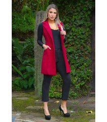 chaleco formal largo outfit 3103 para mujer rojo