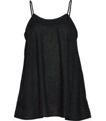abisha blouse mouwloos zwart rabens sal r