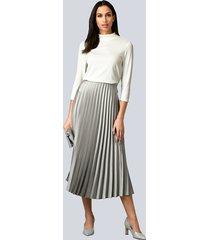kjol alba moda silvergrå