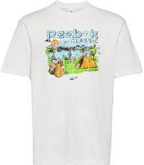 cl intl tee west t-shirts short-sleeved vit reebok classics