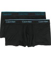 calvin klein underwear logo lined boxer briefs - black