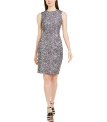 calvin klein petite python-print sheath dress