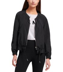 dkny jeans drawstring-waist jacket