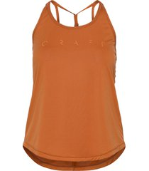 core sence strap singlet w t-shirts & tops sleeveless orange craft