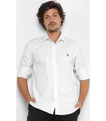 camisa reserva slim fit manga longa masculina