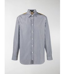 versace baroque-print striped shirt
