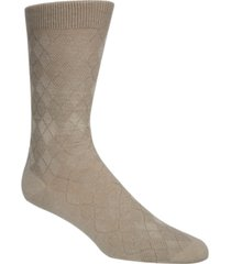 cole haan men's tonal argyle crew socks