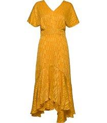 thora dress maxi dress galajurk geel minus