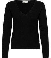 pullover ls stickad tröja svart rosemunde