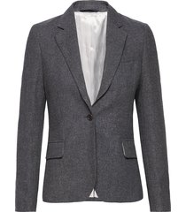 d2. d gal wool slim blazer blazer kavaj grå gant