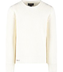 ralph lauren ivory sweater for girl with logo