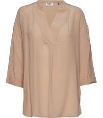 day fan blouses short-sleeved beige day birger et mikkelsen