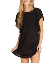women's billabong out for waves cover-up tunic, size x-small - black (nordstrom exclusive)