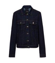 jaqueta jeans classic amaciada jeans escuro