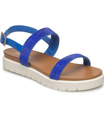 womens sandal shoes summer shoes flat sandals blå ilse jacobsen